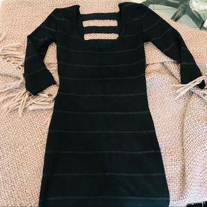 Knit Bodycon Dress Open Back